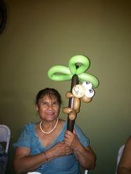 Mom with Monkey on Tree