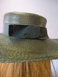 Vintage Classic Black Wide Brim with bow Back View