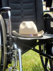 Justin Dart's Trademark Stetson at the Rally at 2015 NCIL Conference