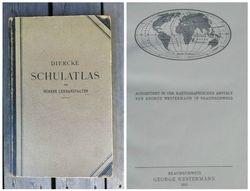 Antikvarinis, 1911 m. geografijos atlasas. Kaina 42