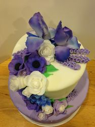 Purple Fondant Flowers