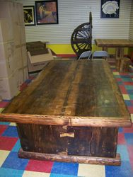 Douglas Fir table,book mached