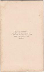 Case & Getchell, photographers, Boston, MA - back