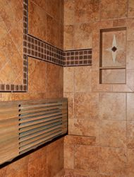 Shower Bench and Shelf