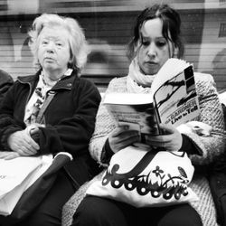 Lost in a good book.