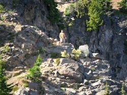 Climbing near the rim