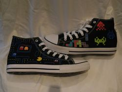 Handpainted shoes.
