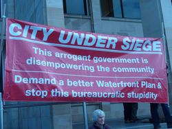 Rally at PH against the current Waterfront Development Plan