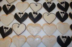 Bride/Groom cookies with cookie icing $4 each