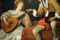 Steen, Music Lesson, detail, Corcoran Gallery, Washington