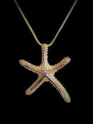 Two tone starfish pendant