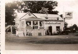MOBIL STATION IN FLORENCE  1950s