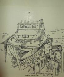 Vedette de L'École Navale 19 x 20 cm