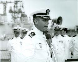 The first Captain of the Miller, Lynn Blasch