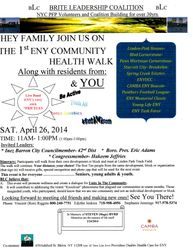 1st ENY Community Health Walk 2014