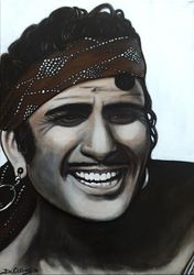 """Douglas Fairbanks"", ""The Black Pirate"", ""The Duke of Arnoldo"",""United Artists"", ""Actor"",""Screenwriter"", ""Director"", ""Producer"", ""Mortimer Wilson"", ""Composer"",acrylic on canvas, by Fin Collins, part of The Film Icons Collection www.filmiconsgallery.com"