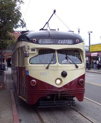 A cab-front photograph of PCC #1007 at The Anchorage.
