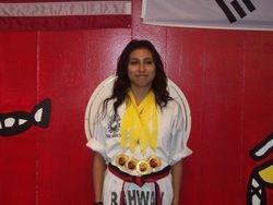 Dennise Bartra 06-05-2011 Championship 1st pl forms 1st pl breaking 1st pl weapons 1st pl fighting