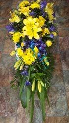 Half Casket Yelland Purple Flowers