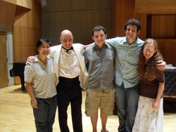 With Students after Concert at Green Mountain Festival, Vermont