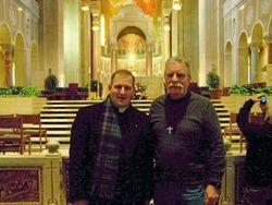 Seminarian, Jeff Paveglio with Jim Preisendorfer