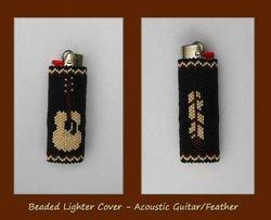 Beaded Lighter Cover - Gift for my sons music teacher
