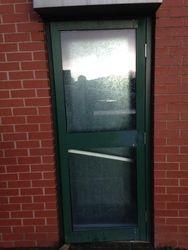 Site 1. Damaged door before.
