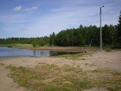 Sjön runt paviljongen
