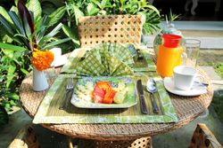 Breakfast served on your terrace