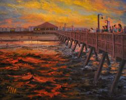 Tybee island. Sunset on the Pier.