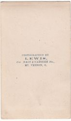 Lewis, photographer of Mt Vernon, Ohio