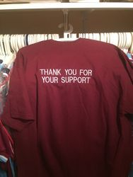 "Andy Carroll worn ""Thank you for your support""  T shirt"