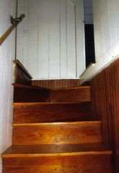 Stairway where switch crackled and