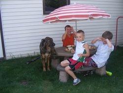 Jack enjoying a picnic!