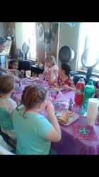 The girls eating!