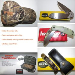 Buck, Kershaw, Travel Humidor,