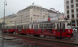 SGP built E1 class tram, photographed on Opernring