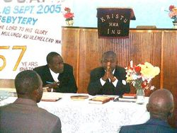 The Chairman & Secretary Harare Presbytery 2005/6