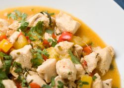 Chicken with Passion Fruit and Mango Sauce