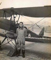John and his Tiger Moth