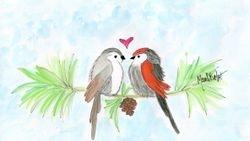 Anniversary Lovebirds