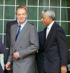 Mandela with the King of Spain