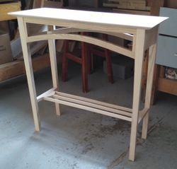 """Arched"" table:  28""high x 30""wide x 11""deep  $120.00"