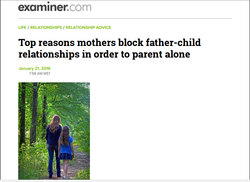 Top reasons mothers block father-child relationships in order to parent alone