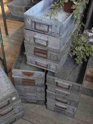 #13/ 247 18 Galvenized Boxes