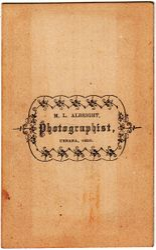 M. L. Albright, photographer of Urbana, Illinois - back