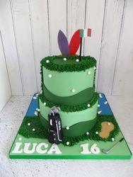 16th Birthday Golf Cake