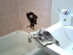 New Tub Faucet Installed
