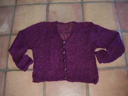 3.  loose knit - ruffled edges