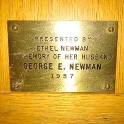 Memory of George E Newman 1957
